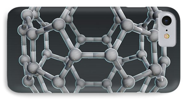 Buckminsterfullerene Molecular Model Phone Case by Evan Oto