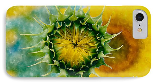 Bud Of Sunflower IPhone Case by Lanjee Chee