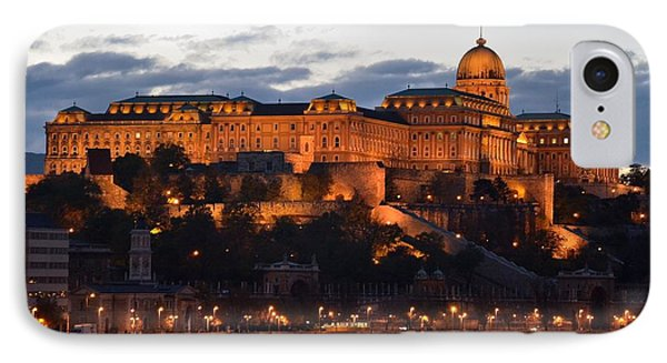 Budapest Palace At Night Hungary Phone Case by Imran Ahmed