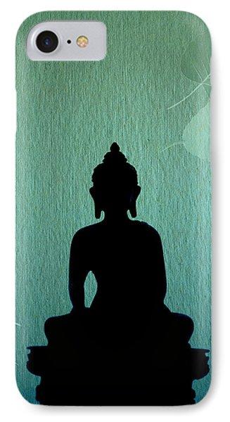 Buddha And Bodhi Leaves IPhone Case by Niteen Kasle
