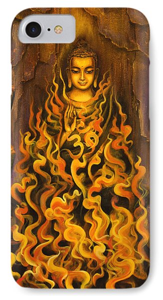 Buddha. Fire Of Meditation Phone Case by Vrindavan Das