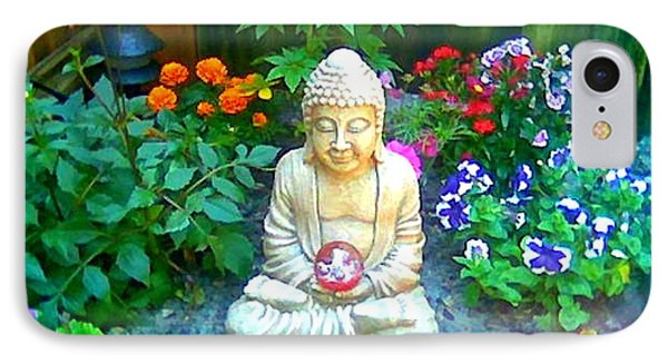 IPhone Case featuring the photograph Backyard Buddha by Steed Edwards