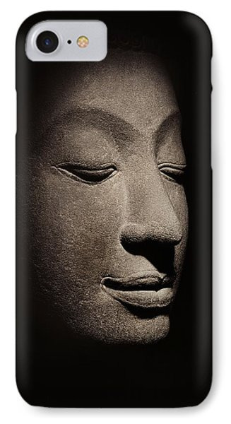 Buddha Head From The Early Ayutthaya Period IPhone Case by Siamese School