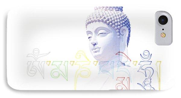 Buddha Mantra  IPhone Case by Tim Gainey