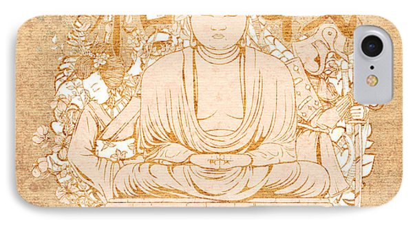 Buddha Painting Antique IPhone Case by Art World