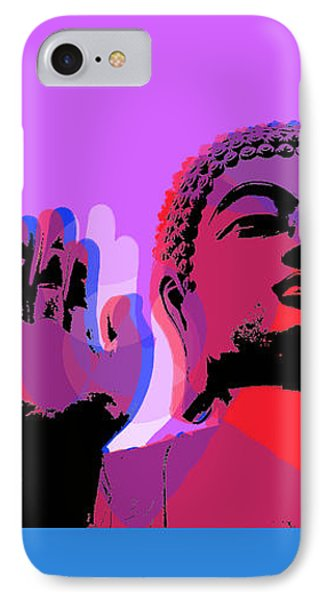 Buddha Pop Art - 4 Panels IPhone Case by Jean luc Comperat