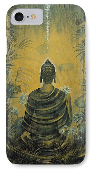 Buddha. Presence IPhone Case by Vrindavan Das
