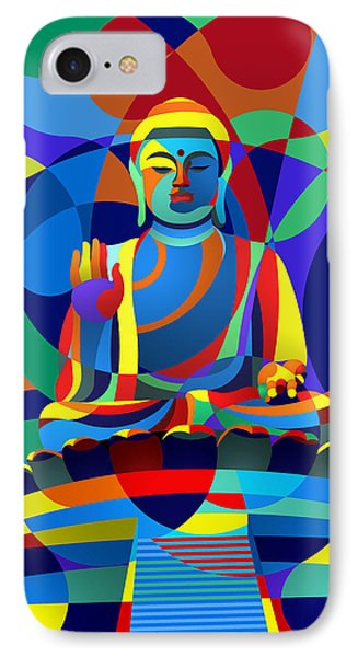 IPhone Case featuring the digital art Buddha by Randall Henrie