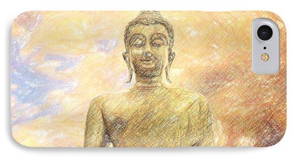 Buddha Phone Case by Taylan Apukovska