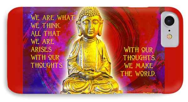 Buddha's Thoughts 2 IPhone Case by Ginny Gaura
