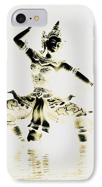 Buddhist Dancer IPhone Case by Ramona Johnston