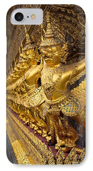 Buddhist Figurines IPhone Case by Inge Johnsson