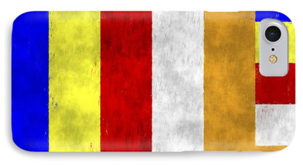 Buddhist Flag IPhone Case by World Art Prints And Designs