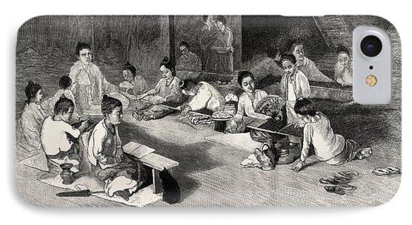 Buddhist Girls School In Rangoon IPhone Case by English School