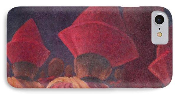 Buddhist Monks, Bhutan, 2012 Acrylic On Canvas IPhone Case