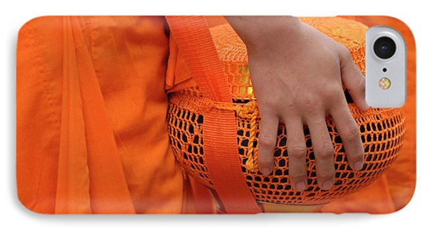 Buddhist Monks Hand Phone Case by Bob Christopher