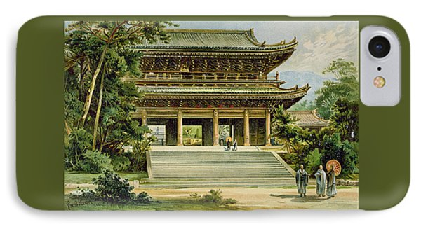 Buddhist Temple At Kyoto, Japan IPhone Case by Ernst Heyn