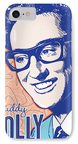 Buddy Holly Pop Art IPhone Case by Jim Zahniser