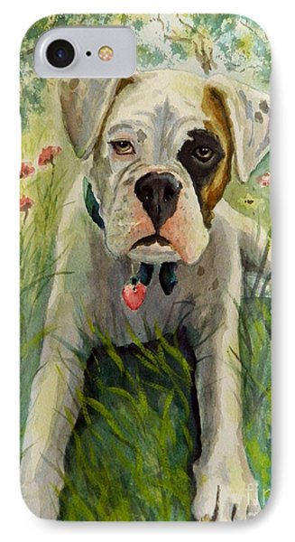 Buddy The Boxer IPhone Case by William Reed