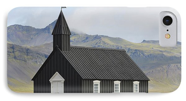 Budir Church Stadarsveit, Snaefellsnes Phone Case by Michael Thornton