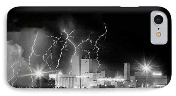 Budweiser Lightning Thunderstorm Moving Out Bw Pano Phone Case by James BO  Insogna