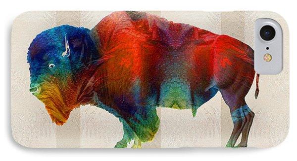 Buffalo Animal Print - Wild Bill - By Sharon Cummings IPhone Case by Sharon Cummings
