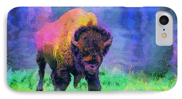 Buffalo At Yellowstone IPhone Case by Jim  Hatch