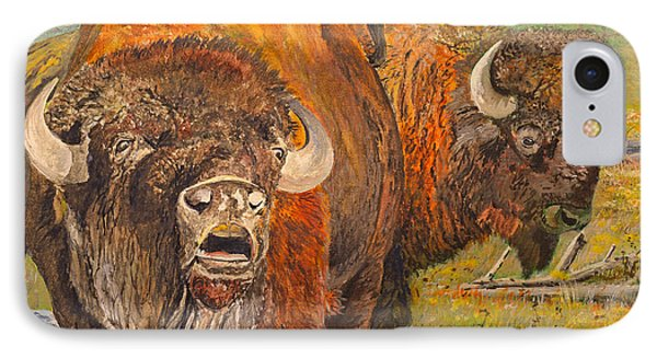 Buffalo Calling Phone Case by Alvin Hepler