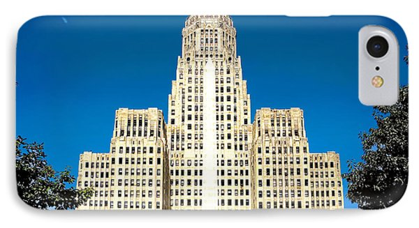 Buffalo City Hall IPhone Case by Jim Lepard