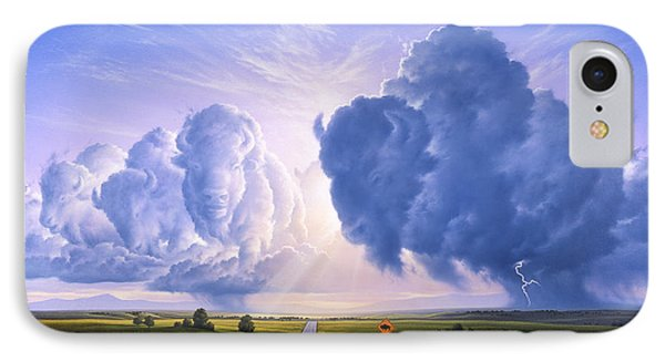 Bison iPhone 7 Case - Nato Buffalo Crossing by Jerry LoFaro