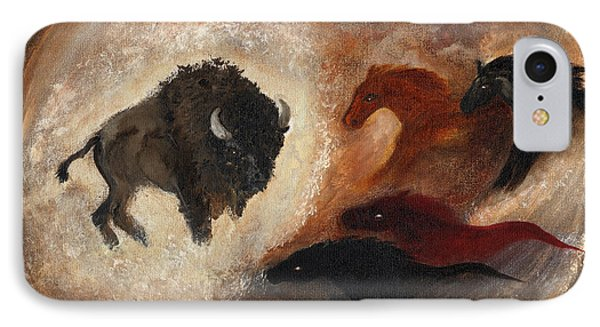 IPhone Case featuring the painting Buffalo Dream by Barbie Batson