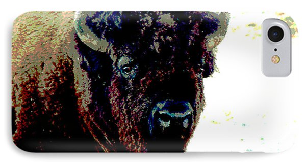 IPhone Case featuring the photograph Buffalo In Snow by Linda Cox