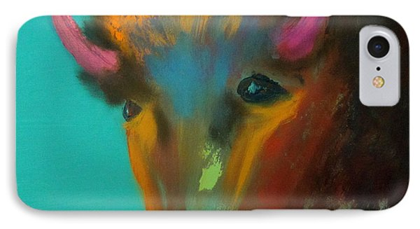 IPhone Case featuring the painting Buffalo by Keith Thue
