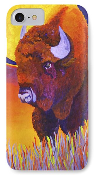 IPhone Case featuring the painting Buffalo Moon by Nancy Jolley