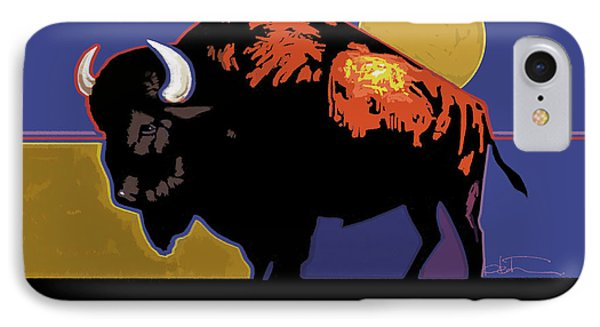 Buffalo Moon IPhone Case by R Mark Heath
