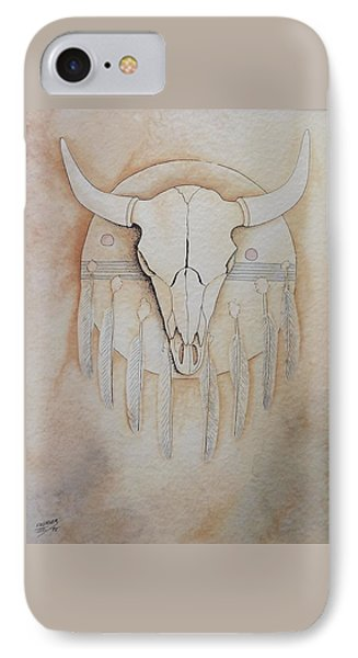 IPhone Case featuring the painting Buffalo Shield by Richard Faulkner