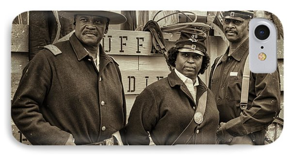 Buffalo Soldiers Reenactors IPhone Case by Priscilla Burgers