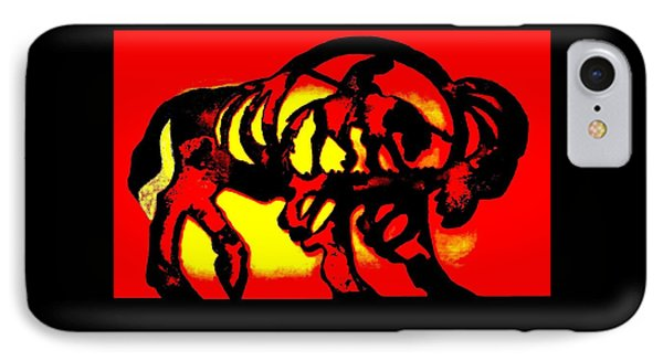 Buffalo Sun Set IPhone Case by Larry Campbell