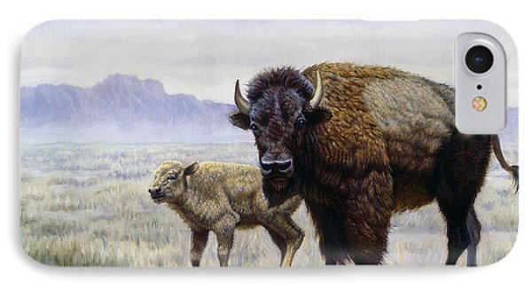Buffalo Watering Hole IPhone Case by Gregory Perillo