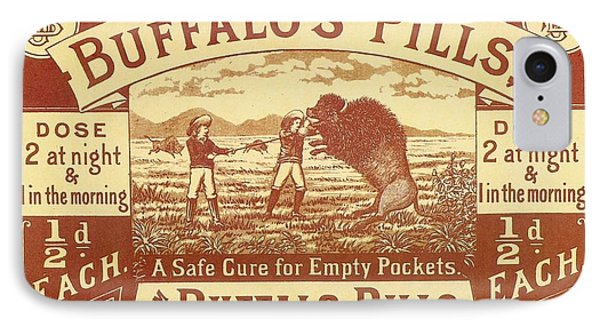 Buffalo's Pills Vintage Ad IPhone Case by Gianfranco Weiss