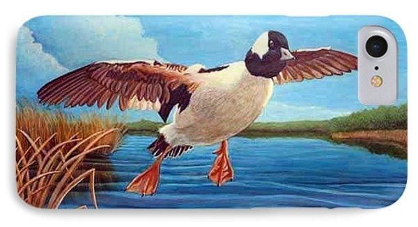 Buffelhead Duck Phone Case by Rick Huotari