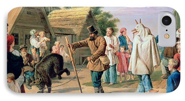 Buffoons In A Village IPhone Case by Francois Nicholas Riss