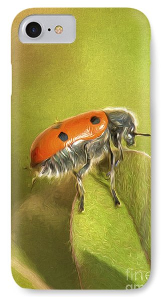 Bug On Leave IPhone Case by Perry Van Munster