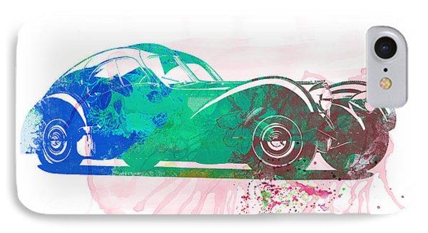 Bugatti Atlantic Watercolor 1 IPhone Case by Naxart Studio
