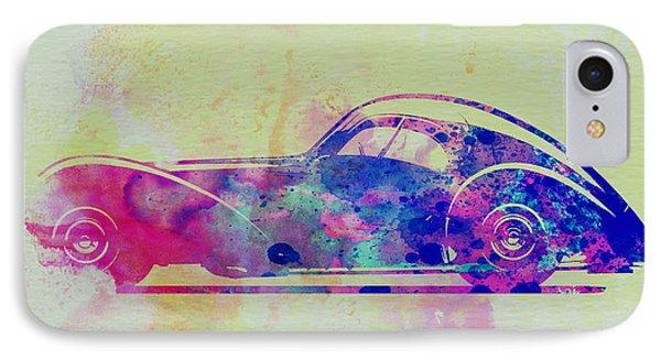 Bugatti Atlantic Watercolor 3 IPhone Case by Naxart Studio