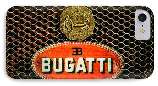 Bugatti Emblem -0903c IPhone Case by Jill Reger