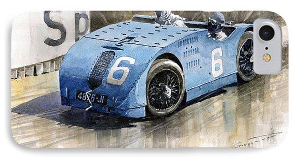 Bugatti Type 32 Tank 1923 French Gp  IPhone Case by Yuriy  Shevchuk