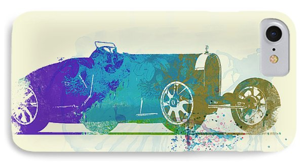 Bugatti Type 35 R Watercolor IPhone Case by Naxart Studio