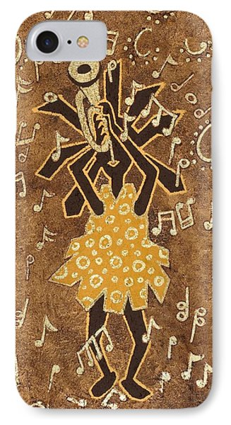Bugle Player Phone Case by Katherine Young-Beck