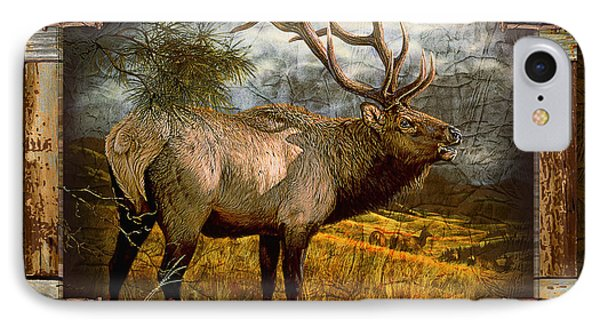 IPhone Case featuring the painting Bugling Elk by JQ Licensing